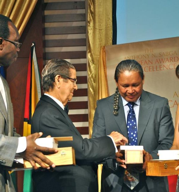 Guyana's George Simon wins Anthony Sagba Award