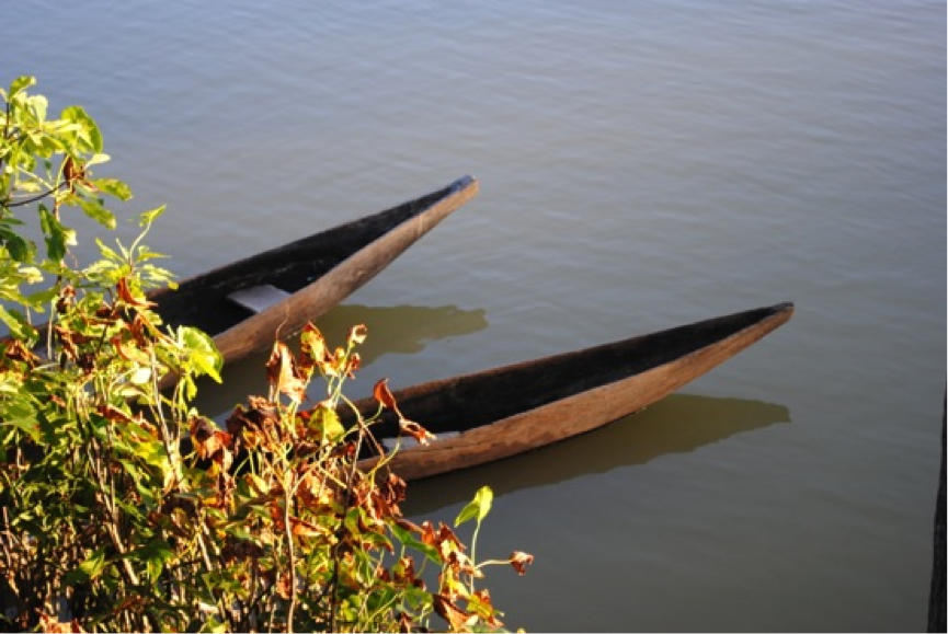 Canoes on the Rupununi River
